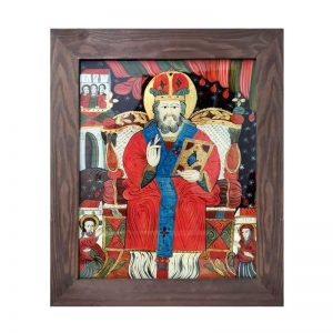 pictura-pe-sticla Sf. Nicolae