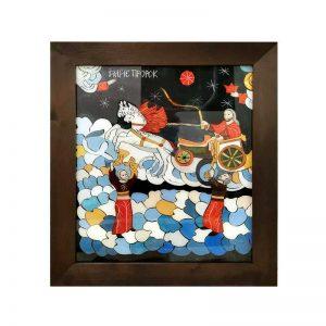 Tablou - Pictura pe sticla - Sf Ilie.