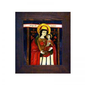 tablou-pictura-pe-sticla-maica-domnului-cu-pruncul